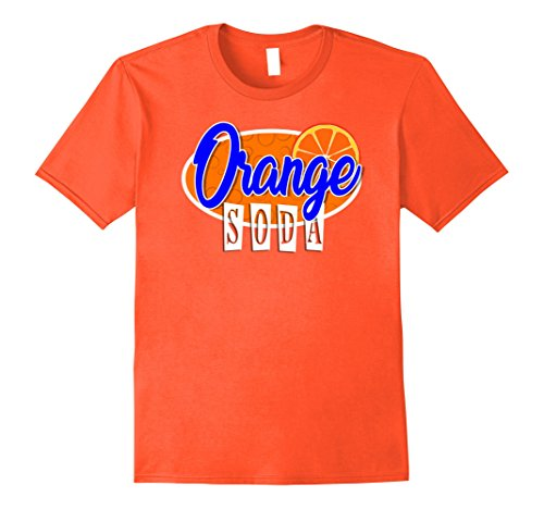 Fountain Drink Costume (Mens Soda Pop Group Costume T-Shirts | ORANGE Soda Shirt Large Orange)