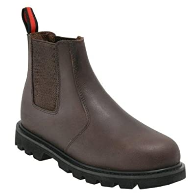 Blackrock Leather Work Safety Dealer Chelsea Boots With Steel Toe Cap And  Steel Midsole In Black