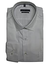 Geoffrey Beene Men's Classic Fit No Iron Sateen Dress Shirt, White, 18 36/37