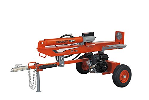 YARDMAX YU2566 25 Ton Full Beam Gas Log Splitter, 4-way wedge, Briggs & Stratton, CR950, 6.5HP, 208cc ()