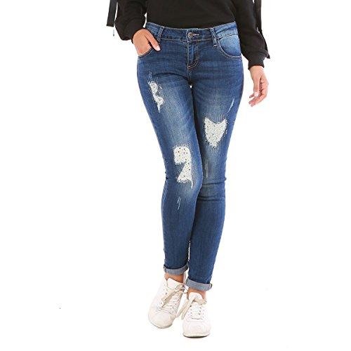 Jeans Bleu Slim Coupe La Modeuse wCHxq6fU5