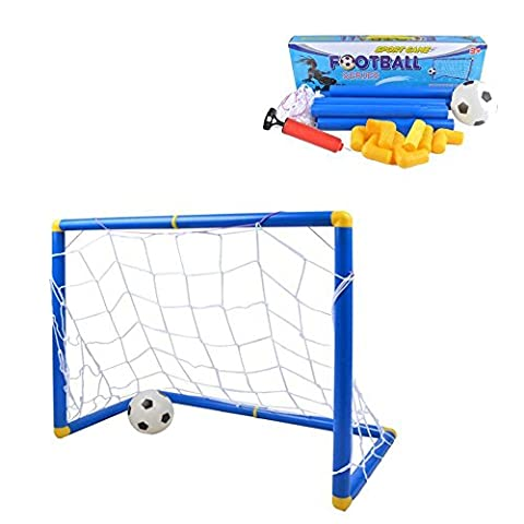 Xiaguocai Soccer Goals Set with Inflatable Soccer Ball and Air Bump for Kids Backyard Soccer Gate Toy Football Training Set - ()