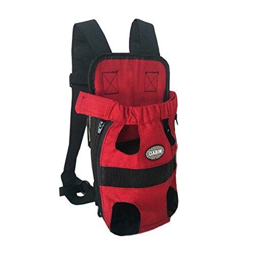 RANRANHOME Bolsa para Perros Y Gatos con Mochila De Viaje Ajustable con Bolsa De Mano Ajustable Carrier,Red
