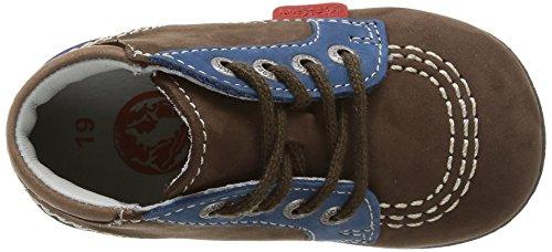 Kickers BABYSTAN - zapatillas de running de cuero Bebé-Niños Marrón (marron foncé/bleu)