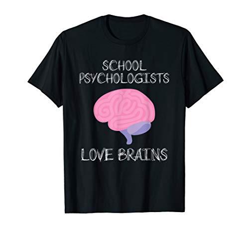 School Psychologist Halloween Shirt Teachers Love Brains Tee
