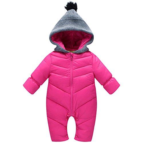 KINDOYO 0-3 meses Bebé Unisexo Traje de Nieve Mameluco con Capucha Monos para Niños Niñas Ropa de una pieza Invierno...