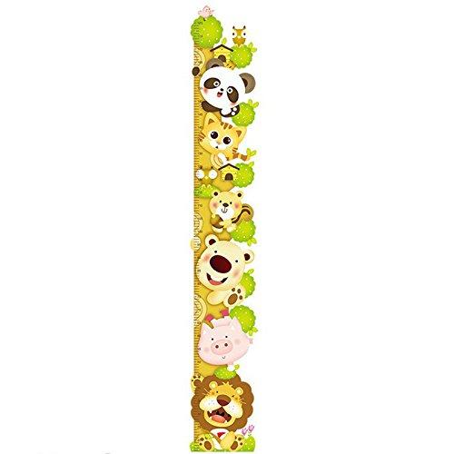 Cosanter Mono Que Sube la Altura de la Pegatina de los niños Que Mide la Altura de la Pared Pegatinas Kindergarten Wallpaper Dormitorio Jirafa de Dibujos Animados Pegatinas de Pared