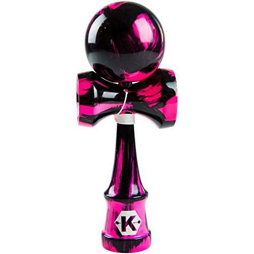 Kendama Kraze Wood Toy - Extra String - Sweet Pink and Black Pro Model ()