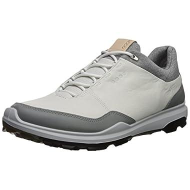 768d406f29bb7 ECCO Men's Biom Hybrid 3 Gore-Tex Golf Shoe, White/Black Yak Leather