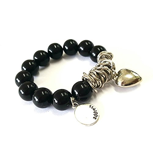Young & Forever Women's Valentine Romantica Collection Diwali Black Beads Bracelet by Young & Forever