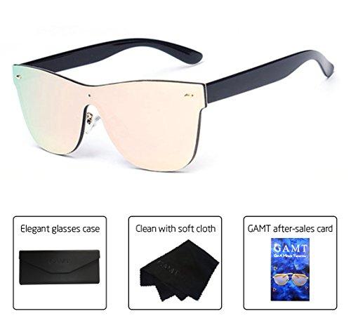 GAMT Wayfarer Sunglasses Integral Mirrored Lens Metal Frame - Mirrored Wayfarer Sunglasses