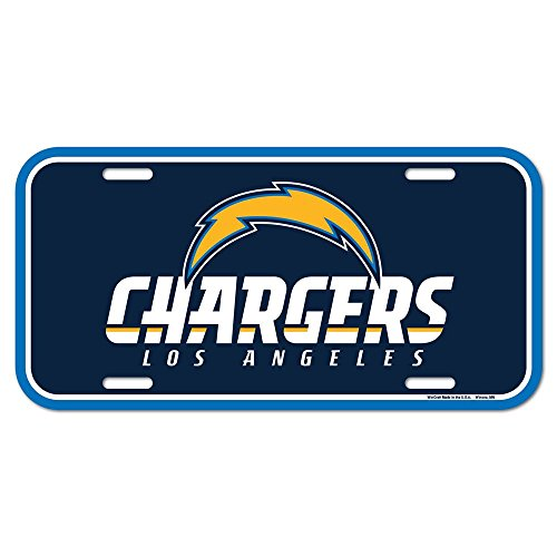 (NFL San Diego Chargers License Plate, Team Color, One Size)