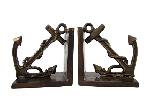Things2Die4 Antiqued Bronze Anchor Bookends