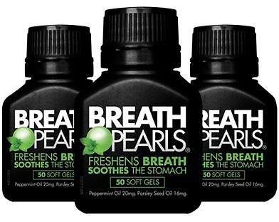 200 Softgels Breath Pearls Breath Freshener (Peppermint & Parsley Seed Oil )
