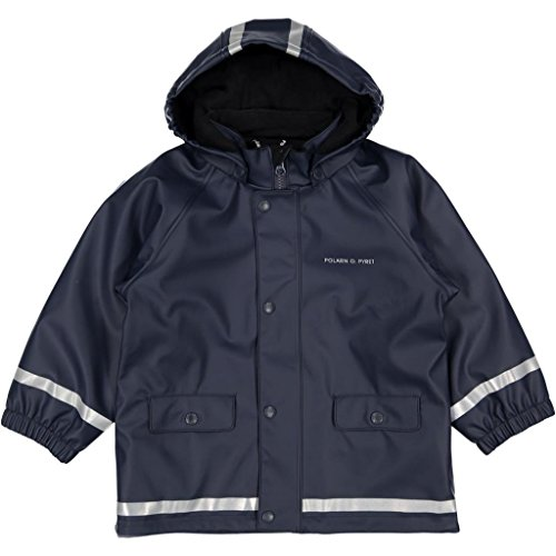 Polarn O. Pyret Fleece Lined Rainy Fun Slicker (2-6YRS) - Dark Sapphire/4-6 Years