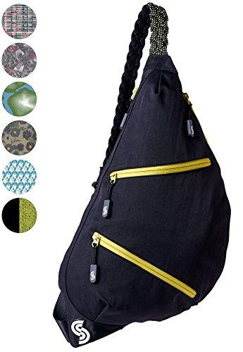 Slope Sling Bag for Women Kids School Crossbody Shoulder Backpack One Strap Daypack - Apple - 420d 600d Polyester Nylon