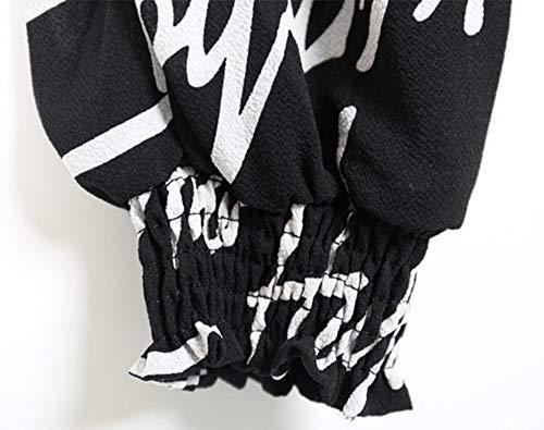 Acogedor Con Impresos Harén Delgados Estiramiento Estampado Harem Pant Las Pantalones Bastante Alta Casuales Letters De Biran Mujeres Cintura 10ZwXx