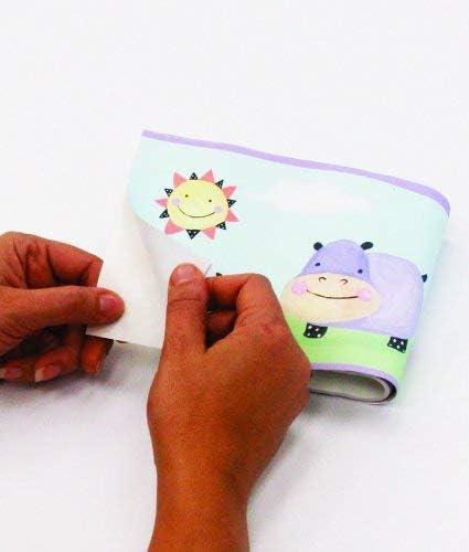 RoomMates Cochon /à Pois Frise Murale repositionnable autoadh/ésive pour Enfants
