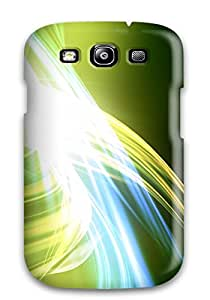 Snap-on Abstract Green Case Cover Skin Compatible With Galaxy S3