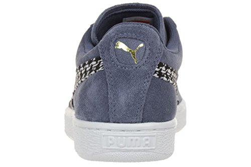 Puma Suede Classic Houndstooth Sneaker Shoes Ladies Wn's 359609 01 grey blue folkstone gray-white-gold