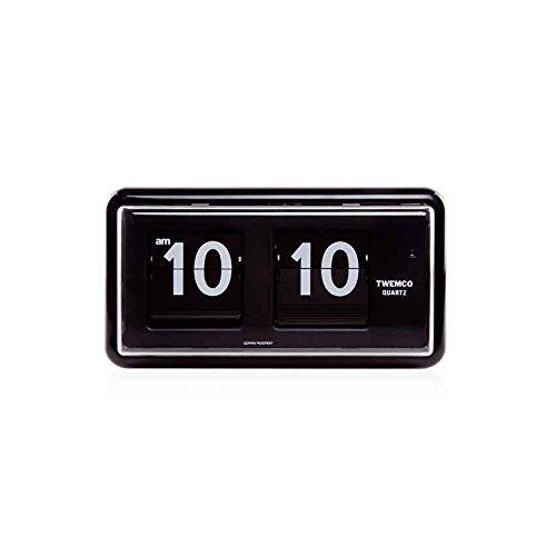 TWEMCO トゥエンコ インテリアクロック パタパタ時計 qt-30 Black B01M67101D