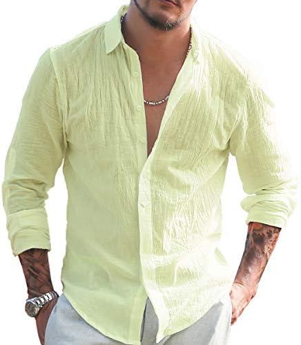 [ミックスリミテッド] シャツ メンズ 綿麻シャツ リネンシャツ 白シャツ 長袖シャツ ワイシャツ