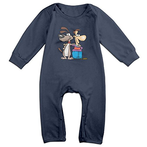 Tongbu Best Friends Baby's Bodysuit Climb Clothes Boy & Girl Soft Cotton Long Sleeve Romper Jumpsuit 18 MonthsNavy