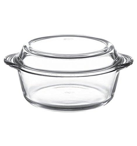 Pasabahce Borcam Round Casserole with Cover, 2 litres