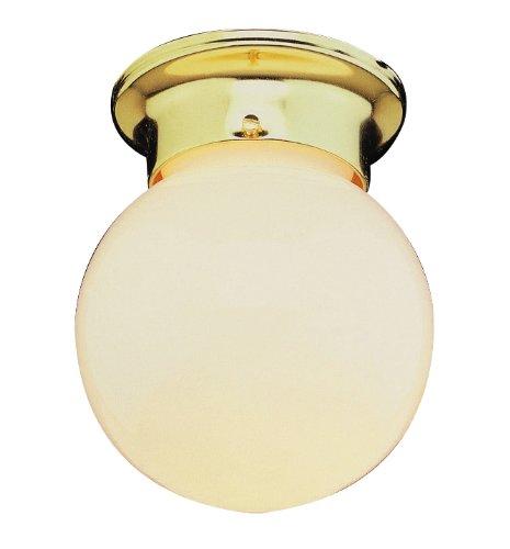 Trans Globe Lighting 3606 PB 1-Light Flush-Mount, Polished Brass