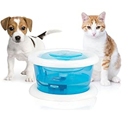 Pet Fountain, Cat Water Fountain Bowl with Replaceable Filter Dog and Cat Drinking Fountains, ,2L/67oz by Petphabet
