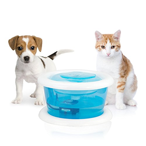Petphabet Pet Fountain, Cat Water Fountain Bowl with Replaceable Filter Dog and Cat Drinking...