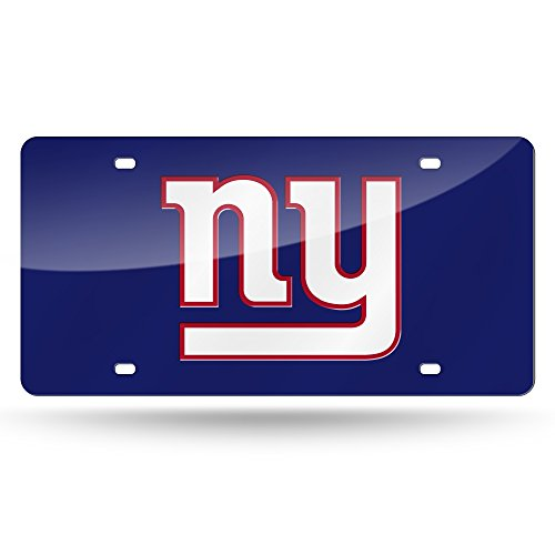 (NFL New York Giants Laser Inlaid Metal License Plate Tag)