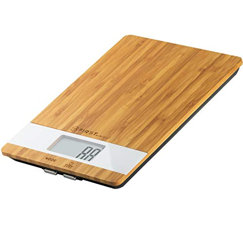Amazon De Tzs First Austria Digitale Slim Bambus Kuchenwaage In
