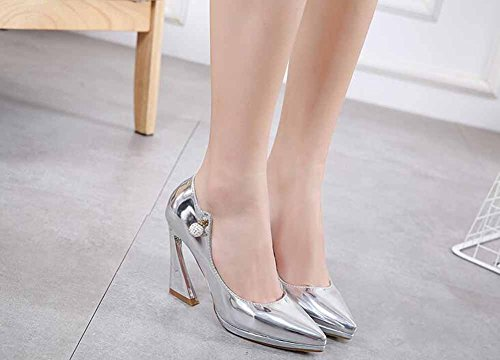 Women Pump Silver Toe The States Pointed 2017 And Sandals GLTER Europe Rhinestones United dq0wt17nx