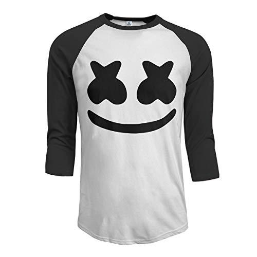 (Menike Men's Casual Andy and Reid Marshmello Raglan Baseball T Shirt 3/4 Sleeve)