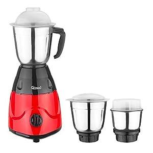 Gixoo Gem 600-Watt Mixer Grinder with 3 Jars Color-Red & Black