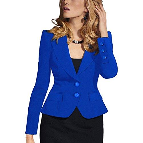Women's Slim Business Blazer Blue - 6