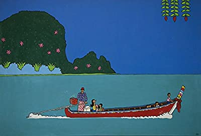 Stephane Delapree Original Acrylic painting, Long-Tail Boat, 2010 54,3 x 78,7 in