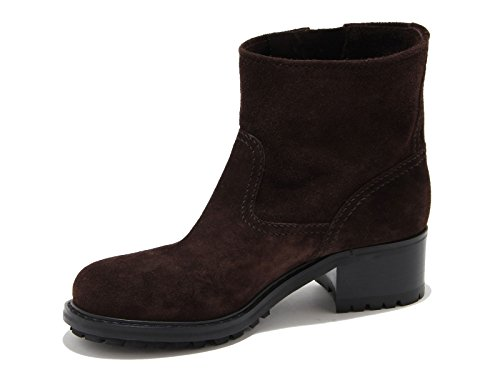 Car Shoe brown suede leather low heel booties shoes - Model number: KDT83I 0B2 F0003 Brown u0qTa