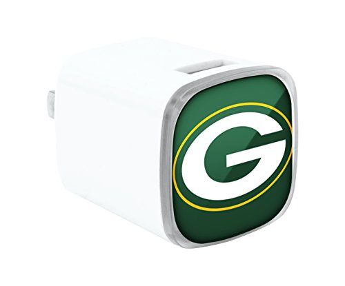 UPC 758302985388, NFL Green Bay Packers Big Logo Wall Charger, Small, White