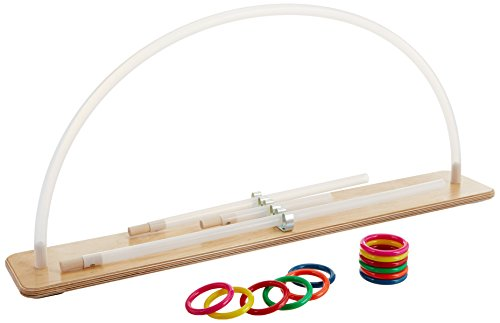 Rolyan Graded ROM Arc, Range of Motion Exerciser for Upper Extremity Physical Therapy, Rehabilitation, & Recovery, Wood Base & Plastic Tube with 12 Rings, Improves Mobility of Shoulder, Arm, & Elbow by Rolyan