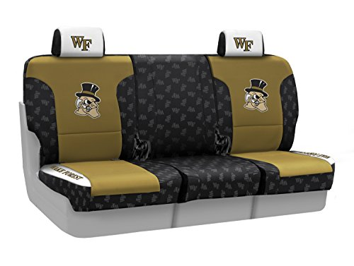 Coverking Front 40/20/40 NCAA Licensed Custom Fit Seat Cover for Select Lincoln Town Car Models - Neosupreme (Wake Forest University) ()