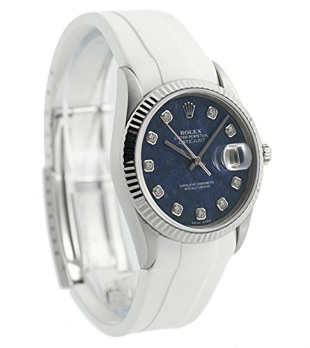 Rolex Datajust automatic-self-wind blue unisex-adult Watch 16234 (Certified Pre-owned) by Rolex (Image #2)