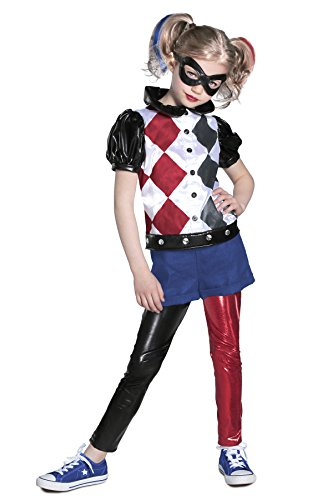 Princess Paradise DC Super Hero Girls Premium Harley Quinn Costume, Red/Black/White, (Short Round Costumes)