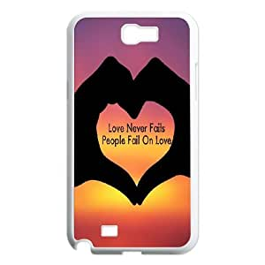 DIY LOVE Phone Case Fit To Samsung Galaxy Note 2 N7100 , Good Choice For Your Phone