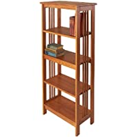 Manchester Wood Mission 54 Bookcase - Golden Oak