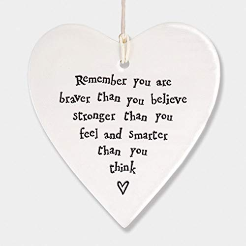 (East of India Heart - Remember you are braver than you believe stronger than you feel and smarter than you think by Little Something Gifts)
