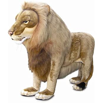 Ride-On Life Size Lion Stuffed Animal