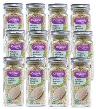 Great Value Organic White Sesame Seeds, 2.2 oz, 2 Count (Pack of 6) by Great Value