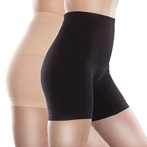 Libella Damen Miederpants mit Bauch-weg-Effekt MDU3605 Schwarz/Haut Gr. XS/S